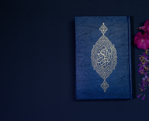 quran and flowers